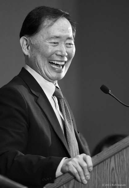George Takei speaks at the 2011 Day of Remembrance event, Hoffmann Hall, Portland State University, Portland, Oregon