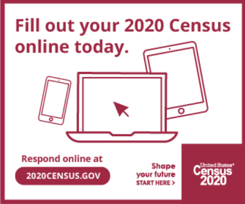 Fill out your 2020 Census online today. 2020census.gov