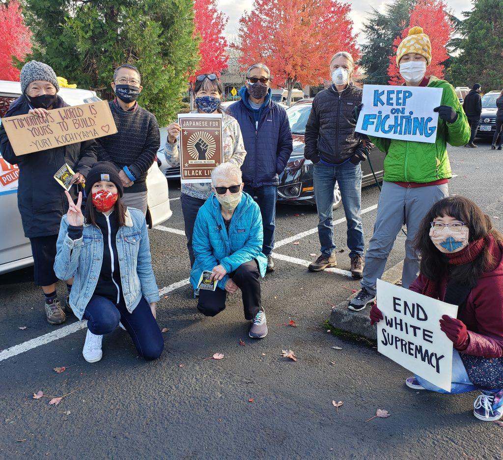 Car caravan protest